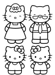 La familia de Hello Kitty