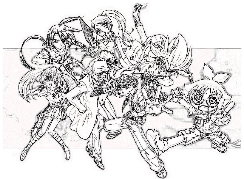 Bakugan, todos los personajes para colorear