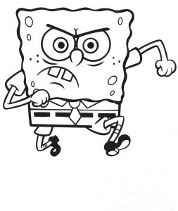 Bob esponja enfadado