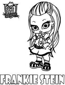 Frankie Stein pequeña de las Monster High