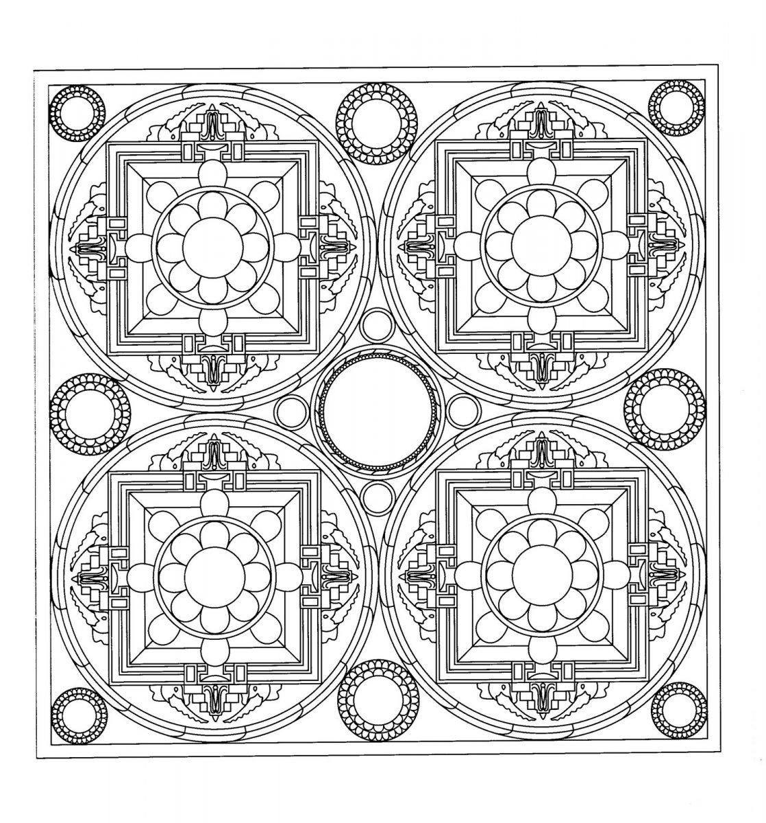 Mandala cuadrado