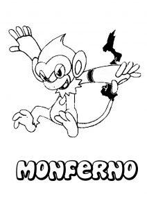 Monferno Pokemon para pintar