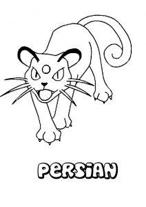 Persian pokemon para colorear