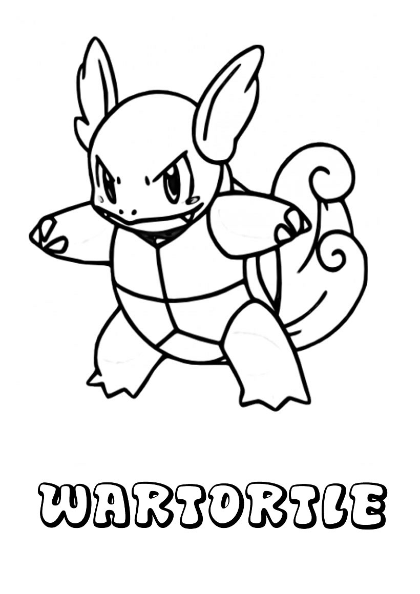 Watertortle - Pokemon para pintar