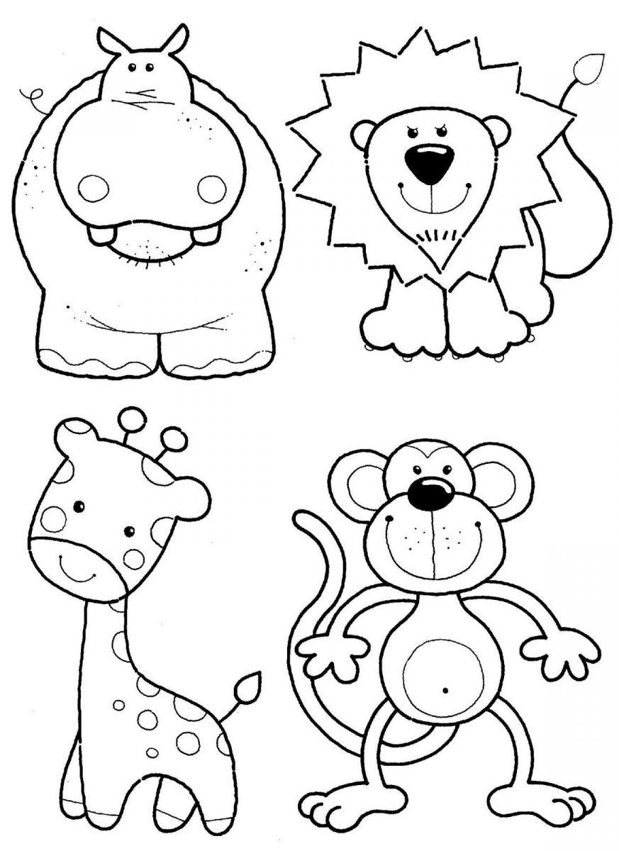 dibujos de animales tiernos para colorear