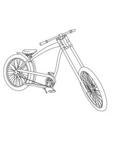 Dibujo de Bicicleta chopper para colorear