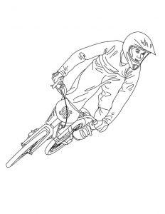 Dibujo para colorear de Bicicleta de four cross