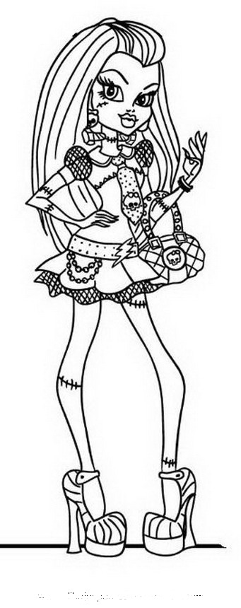 Frankie Einstein - Monster High para colorear