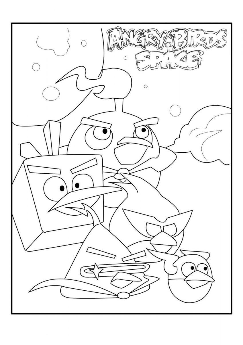 Angry Birds Space para colorear