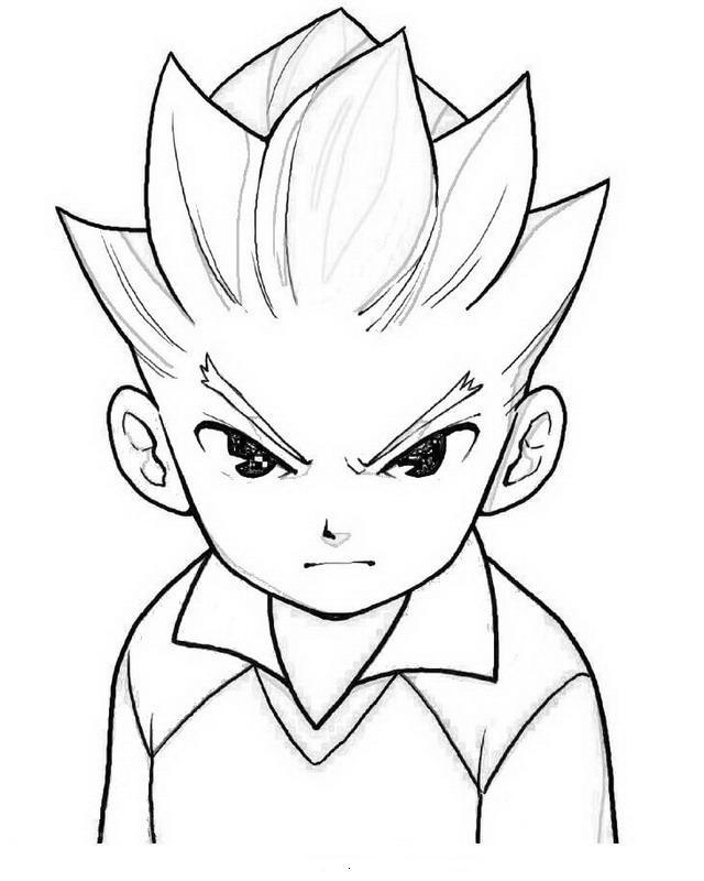 Axel - Dibujos para colorear de Inazuma Eleven