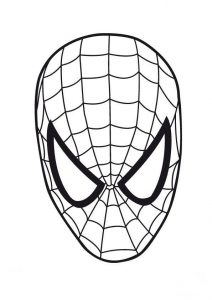 Careta de Spiderman para imprimir o colorear
