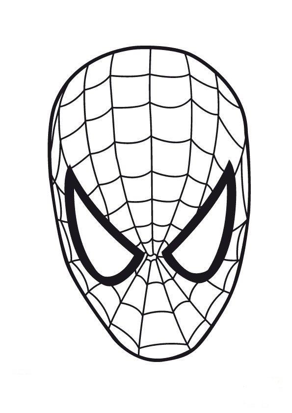 Careta de Spiderman para imprimir o colorear
