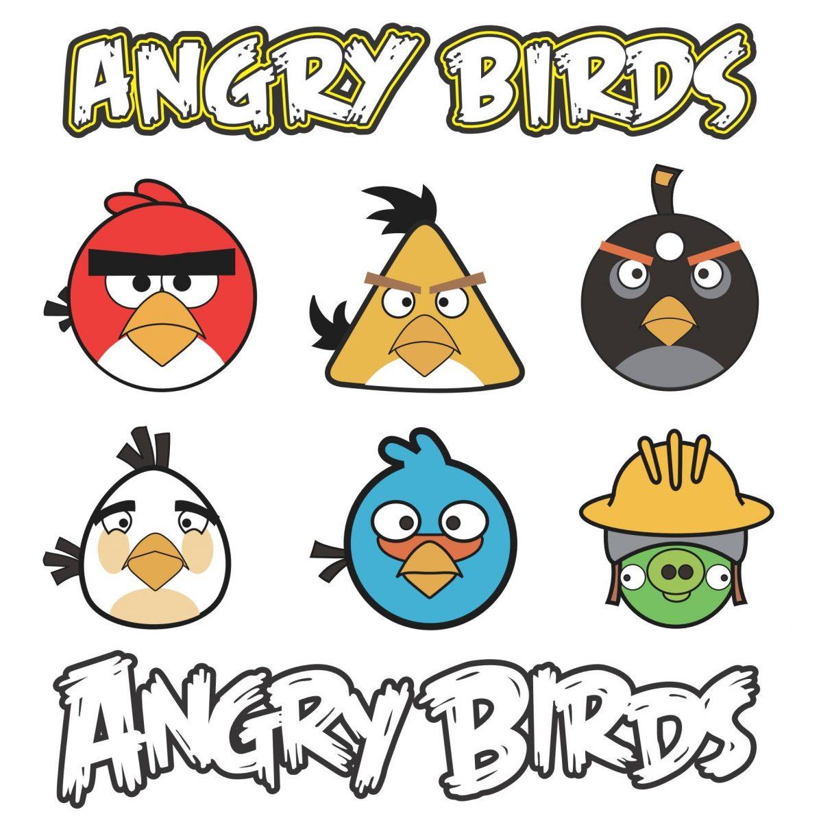 Angry Birds a todo color para recortar