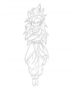 Dibujo de Bola de Dragón Z para colorear