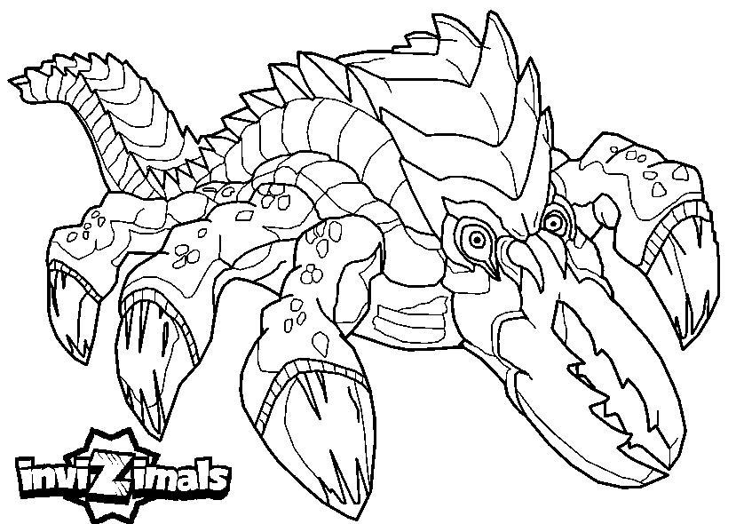 Dibujos de Invizimals - Scissorbeak para colorear
