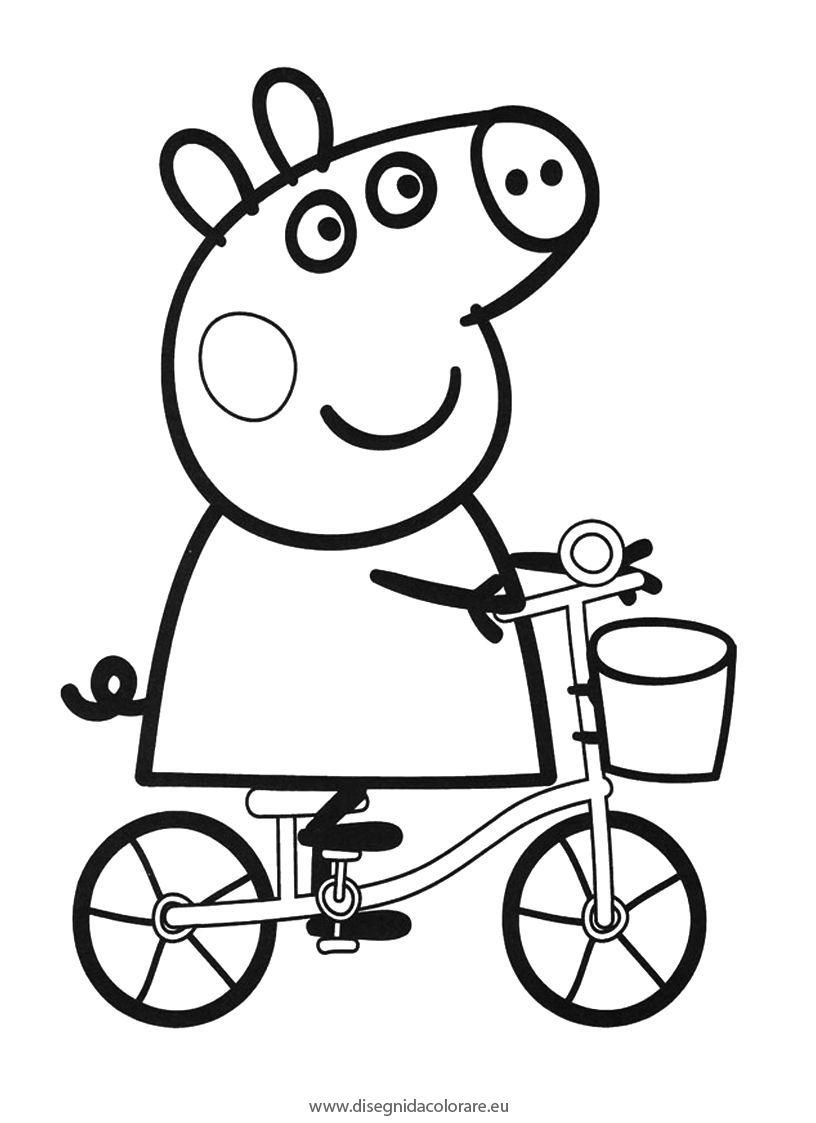 Dibujo de Peepa Pig para imprimir y colorear