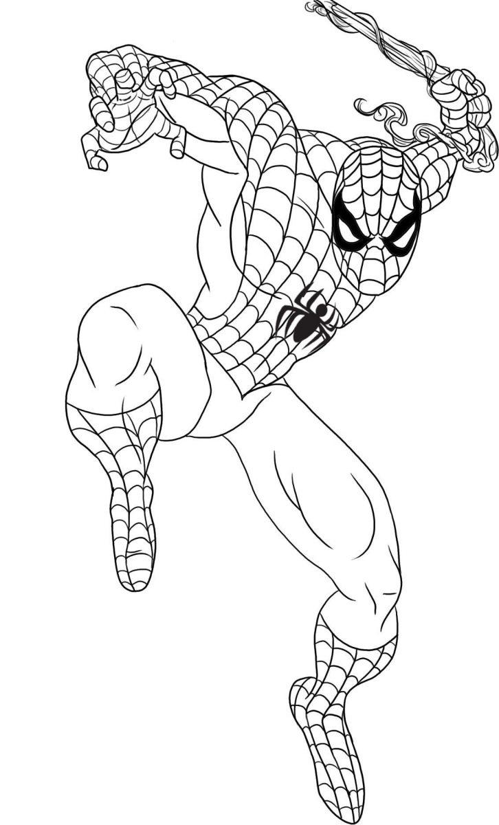 Spiderman para imprimir y colorear