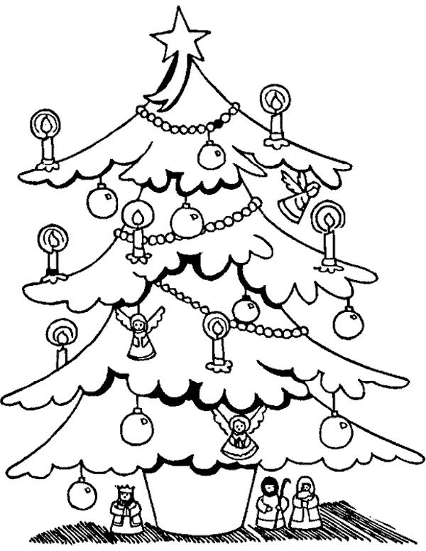 Arboles de Navidad para imprimir y colorear