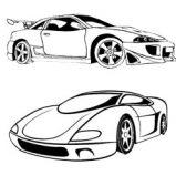 Dibujos de Coches para colorear on line