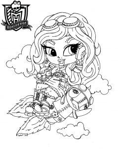 Baby Robecca, dibujo para colorear de Monster High