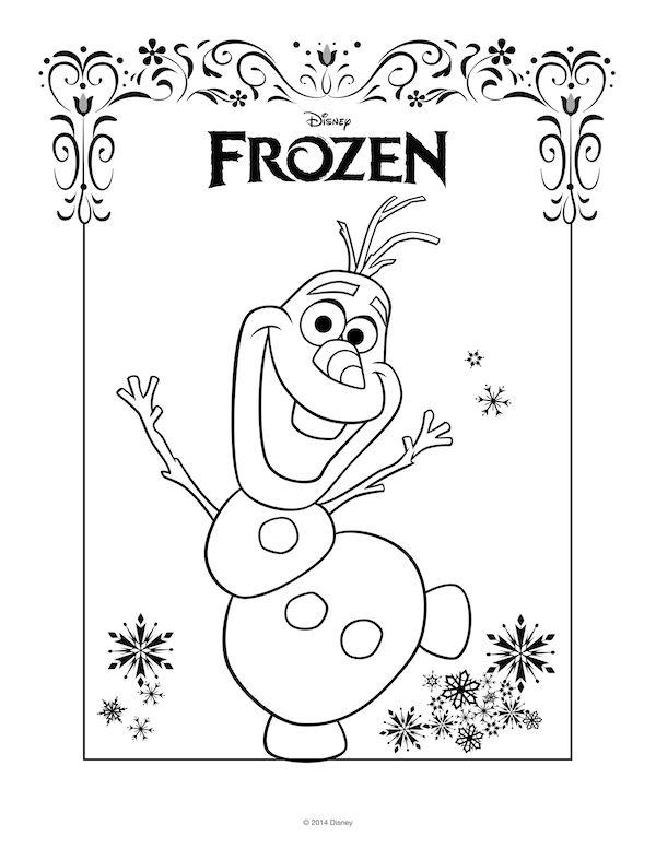 Dibujo Para Imprimir Y Colorear De Olaf Frozen Navidad